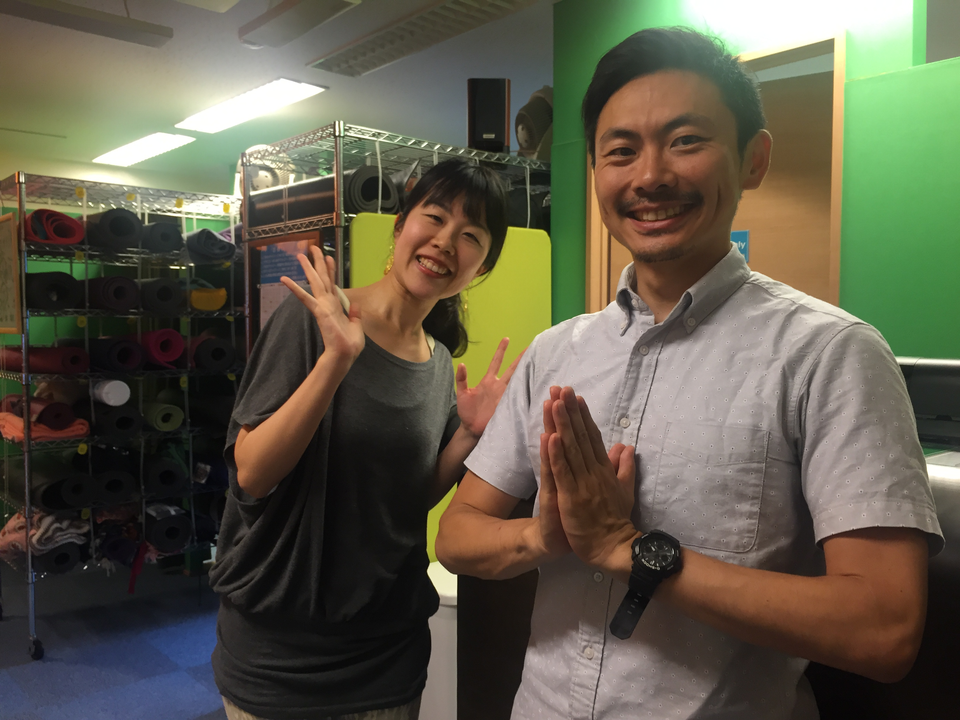 Interview with Yin Yoga Teacher Misato (Left) Hatha Yoga teacher Tom (Right)